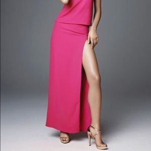 H&M Long Pink Skirt with High Slit